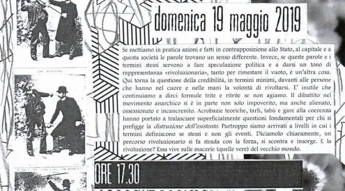 """Presentazione del giornale anarchico """"Vetriolo"""""""